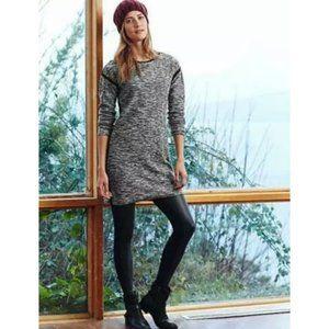 Athleta Retreat Marled Black Gray Sweater Dress
